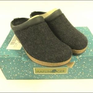 HAFLINGER Charcoal Grizzly Wedge Clogs